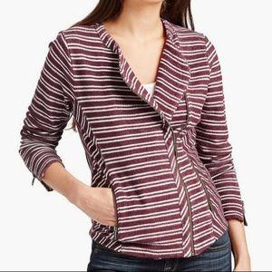 Lucky Brand stripes active jacket sz medium